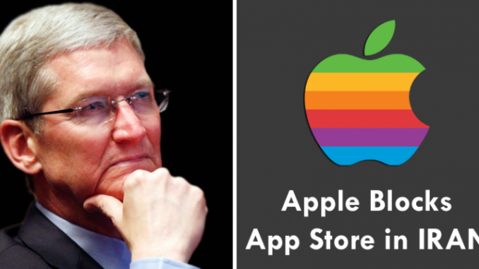 Apple blocked Iran on Web store