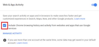 Google Web Activity