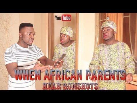 Comedy Video: Samspedy – When African Parents Hear Gunshots
