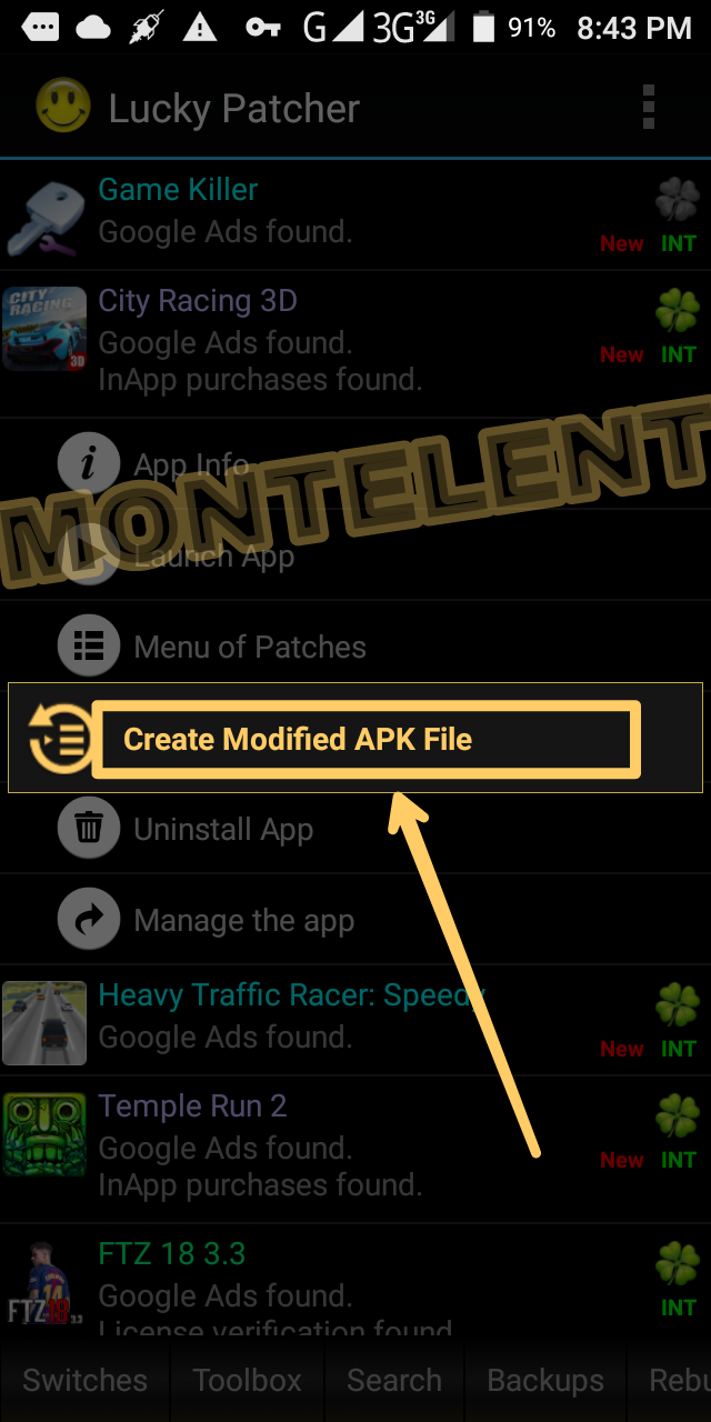 Lucky Patcher Create Modified Apk File