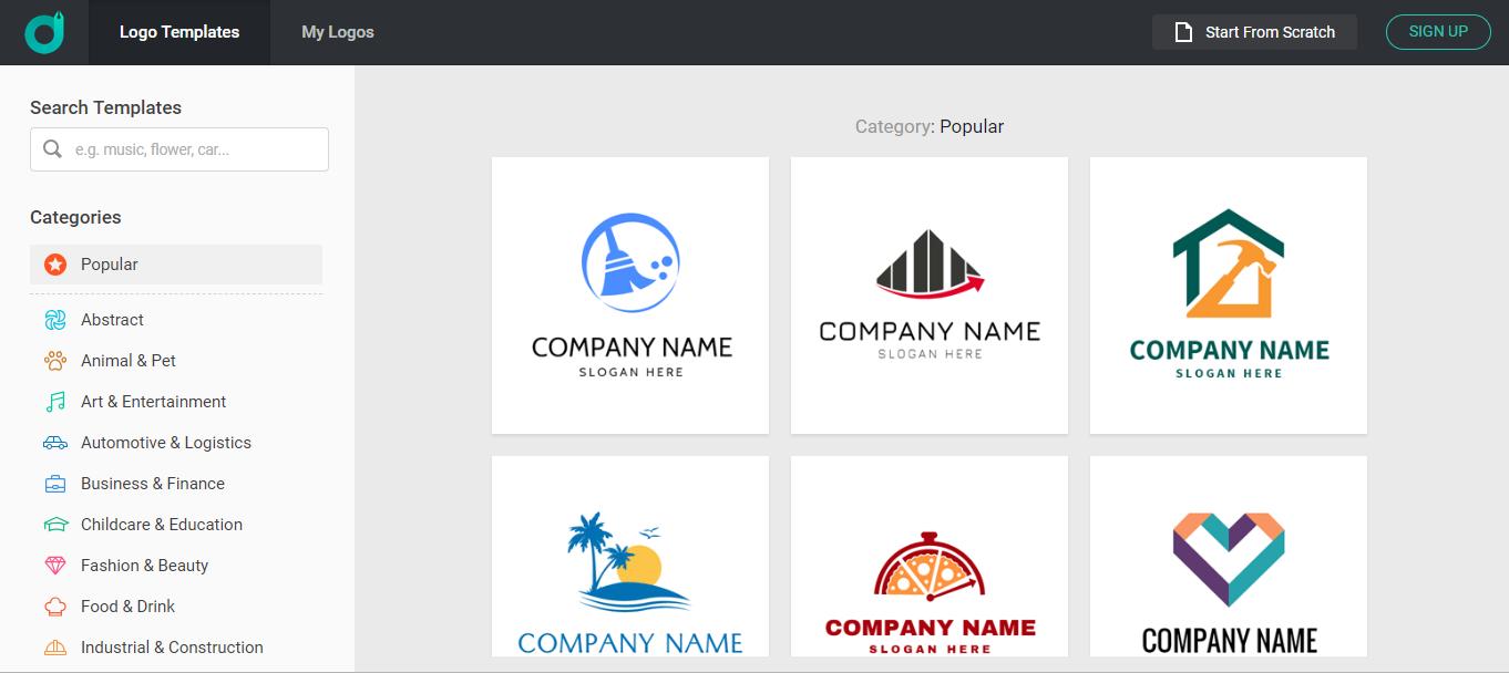 DesignEvo Logo Area