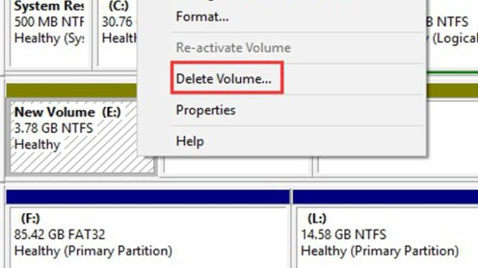 Remove or Delete Disk Partition on Windows PC